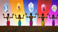 The five great Zambesi tribes presented with mystical totems.png