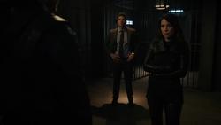 Adrian and Talia hold Oliver captive