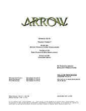 Arrow script title page - Nanda Parbat