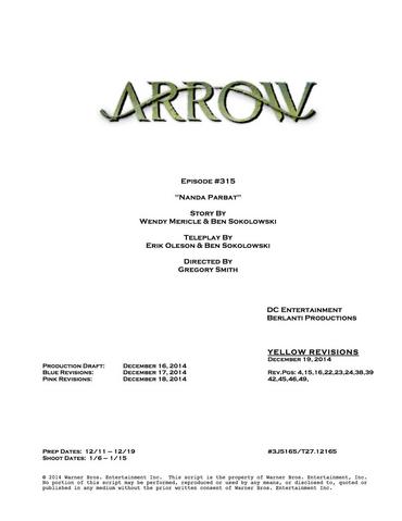 Archivo:Arrow script title page - Nanda Parbat.png