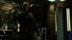 Deathstroke attacks Team Arrow