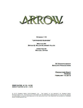 Arrow script title page - Unfinished Business.png