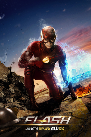File:The Flash season 2 poster - Premieres tonight.png