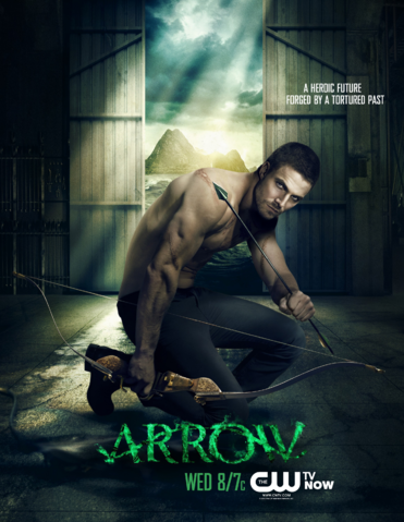 Ficheiro:Arrow promo - A heroic future forged by a tortured past.png