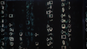 Kryptonian text on DEO computer