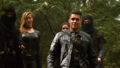 Adrian Chase, Black Siren, and Evelyn Sharp confront Team Arrow on Lian Yu.png