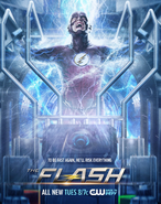 The Flash season 2 poster - To Be Fast Again, He'll Risk Everything