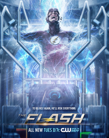 File:The Flash season 2 poster - To Be Fast Again, He'll Risk Everything.png