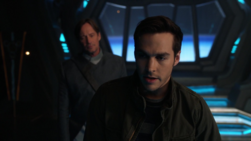 Mon-El with his father Lar Gand
