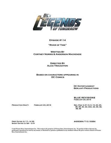File:DC's Legends of Tomorrow script title page - River of Time.png