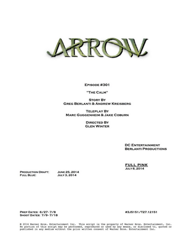 File:Arrow script title page - The Calm.png