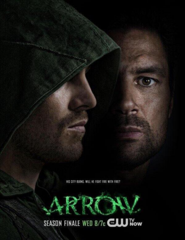 File:Arrow - Unthinkable promo - His city burns. Will he fight fire with fire?.png