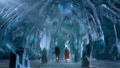 Kara and James arriving inside the Fortress of Solitude.png