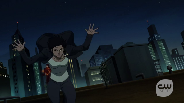 File:Mari McCabe being pursued by The Flash and The Arrow.png