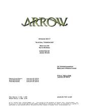 Arrow script title page - Suicidal Tendencies
