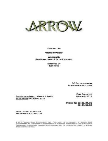 File:Arrow script title page - Home Invasion.png