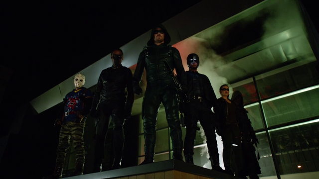File:Team Arrow overlook the panic at an outdoor shopping mall.png