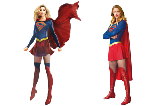 File:Supergirl costume concept sketch side by side with official costume.png