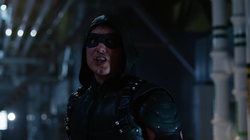 Malcolm Merlyn as Green Arrow