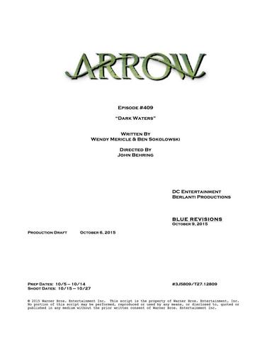 File:Arrow script title page - Dark Waters.png