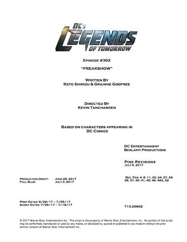 File:DC's Legends of Tomorrow script title page - Freakshow.png