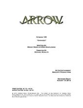 Arrow script title page - Damaged