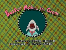 Buster Makes the Grade Title Card