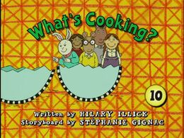 What's Cooking Title Card