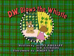 D.W. Blows the Whistle Title Card