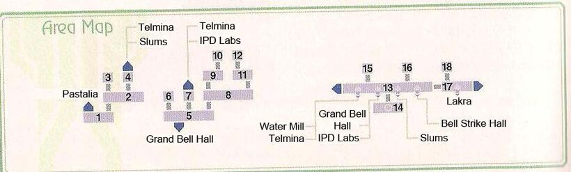 Telmina and Water Mill Area Map