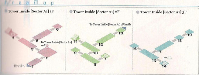 Tower Sector A1 1F~3F Area Map