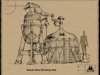 AC2 Human Beer Brewing Vats Sketch