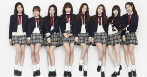 Lovelyz-in-their-signature-schoolgirl-uniforms