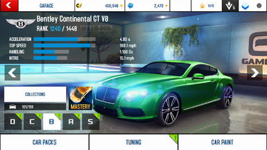 A8A Bentley Continental GT V8 stock