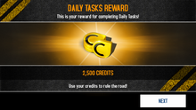 Credits reward