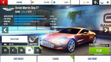Aston Martin One-77 stock