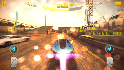 Asphalt 8 Versus mode gameplay