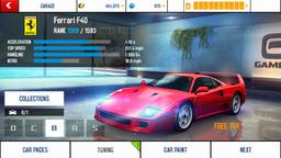 Ferrari F40 base stats