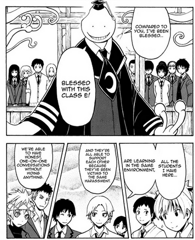 File:Korosensei tells Mr Asano he been blessed with Class E.png