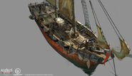 Assassin's Creed IV Black Flag - Ship concept design 1 by kobempire