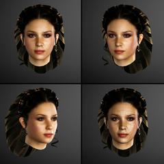 克劳迪娅的脸部模型