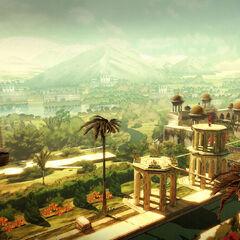 阿尔巴兹·米尔俯瞰一座宫殿
