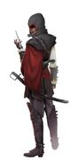Early Assassins Aveline with Hood - Concept Art