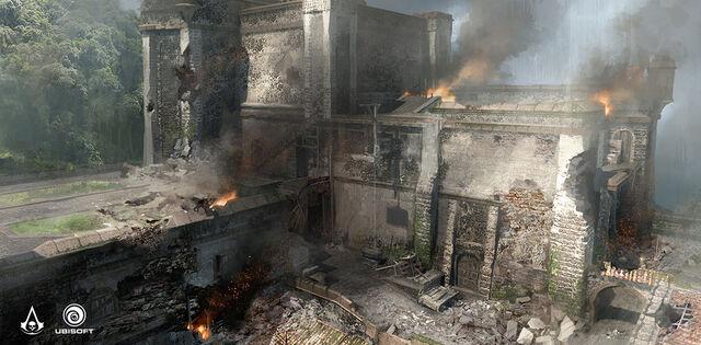 File:AC4 Fort Destruction - Concept Art.jpg