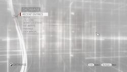 ACB Database menu