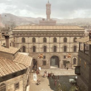 Het Palazzo wordt bewaakt.