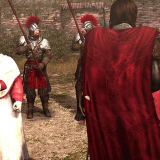 De kardinalen merken Ezio op.