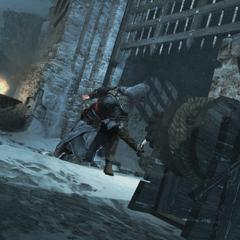 Ezio sluit de poort achter zich