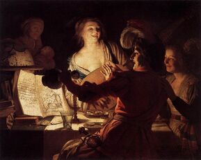 800px-Honthorst, Gerard van - Merry Company - 1623