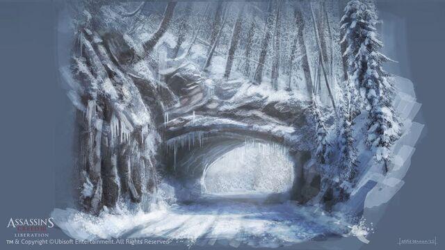 File:Assassin's Creed 3 Liberation - New York outskirts.The Rock Bridge. - by EddieBennun.jpg